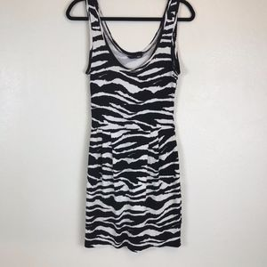 H&M Zebra Print Black/White Dress